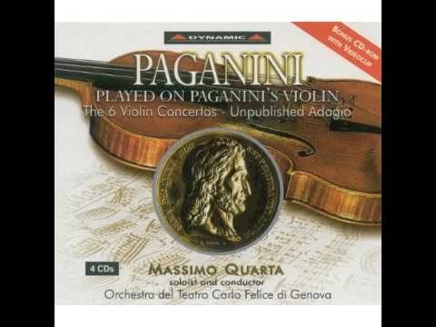 Paganini - the 6 violin concertos - unpublished adagio 1-4