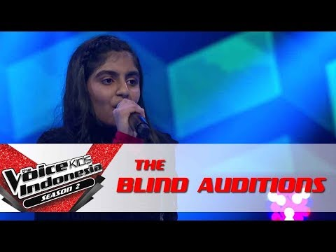 "Trisha ""Whenever. Wherever (Suerte)"" | The Blind Auditions | The Voice Kids Indonesia S2 GTV 2017"