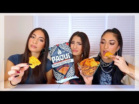 HOTTEST CHIP (GHOST PEPPER) CHALLENGE   Amna Jude Sarah
