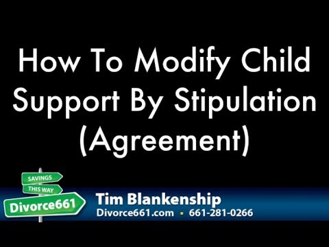 How To Modify California Child Support By Agreement Youtube