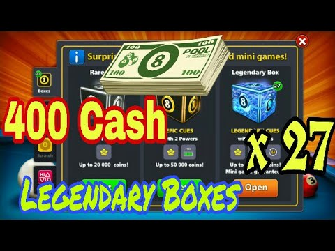 400 Cash Legendary unboxing - 8 Ball Pool By Miniclip