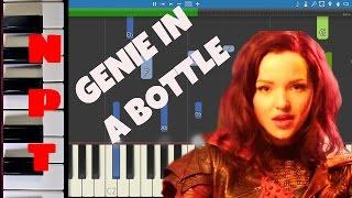 dove cameron genie in a bottle piano tutorial