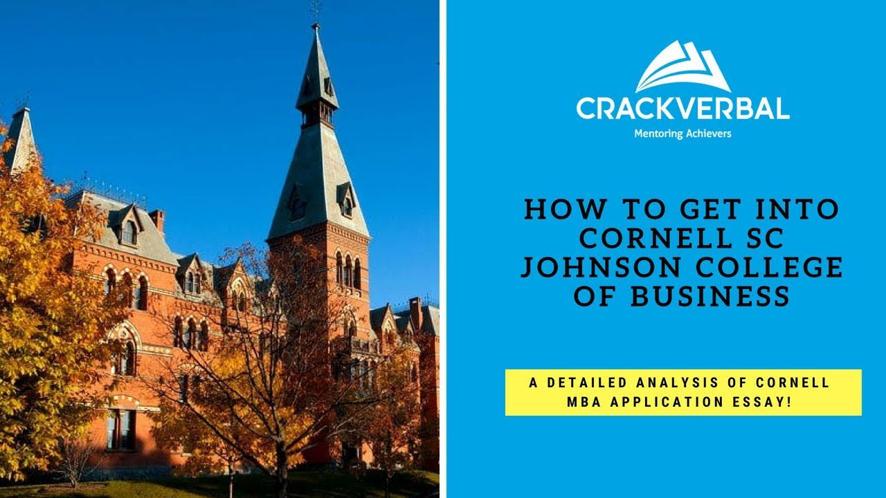 How to Get into Cornell - A Detailed Analysis of SC Johnson College ...