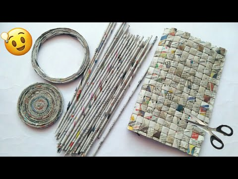 Best out of waste craft ideas | Newspaper craft ideas | best use of old newspaper | #HMA454