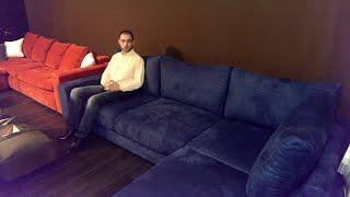 Мягкая Мебель Бенцони: Диван Луиджи обзор (Синяя Алькантара) www.bentsony.ru