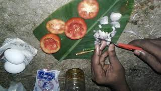 How To Cook An Egg Omelette In A Tomato / Wild Survival Style / Our village food