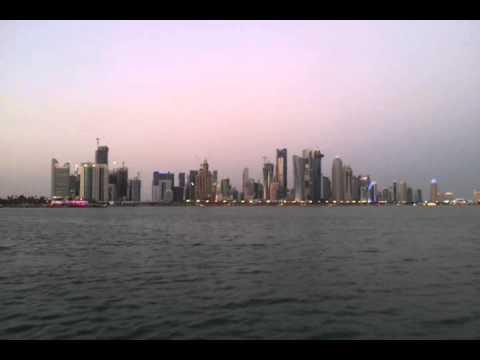 On boat at Doha-Qatar