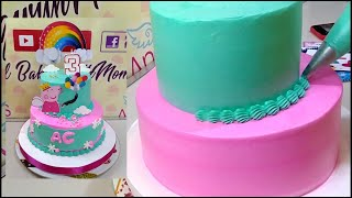 Peppa pig cake design  Easy cake decorating and easy piping tutorial