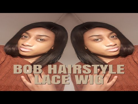 Bob Haircut Brazilian Virgin Lace Wig ft OMGQueen| MerlineBeauty