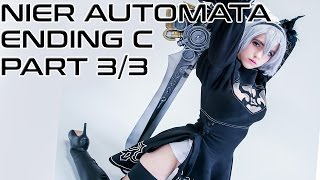 NieR Automata FULL Playthrough Ending C (has D & E at end) Part 3/3 [PS4 Pro 60FPS]