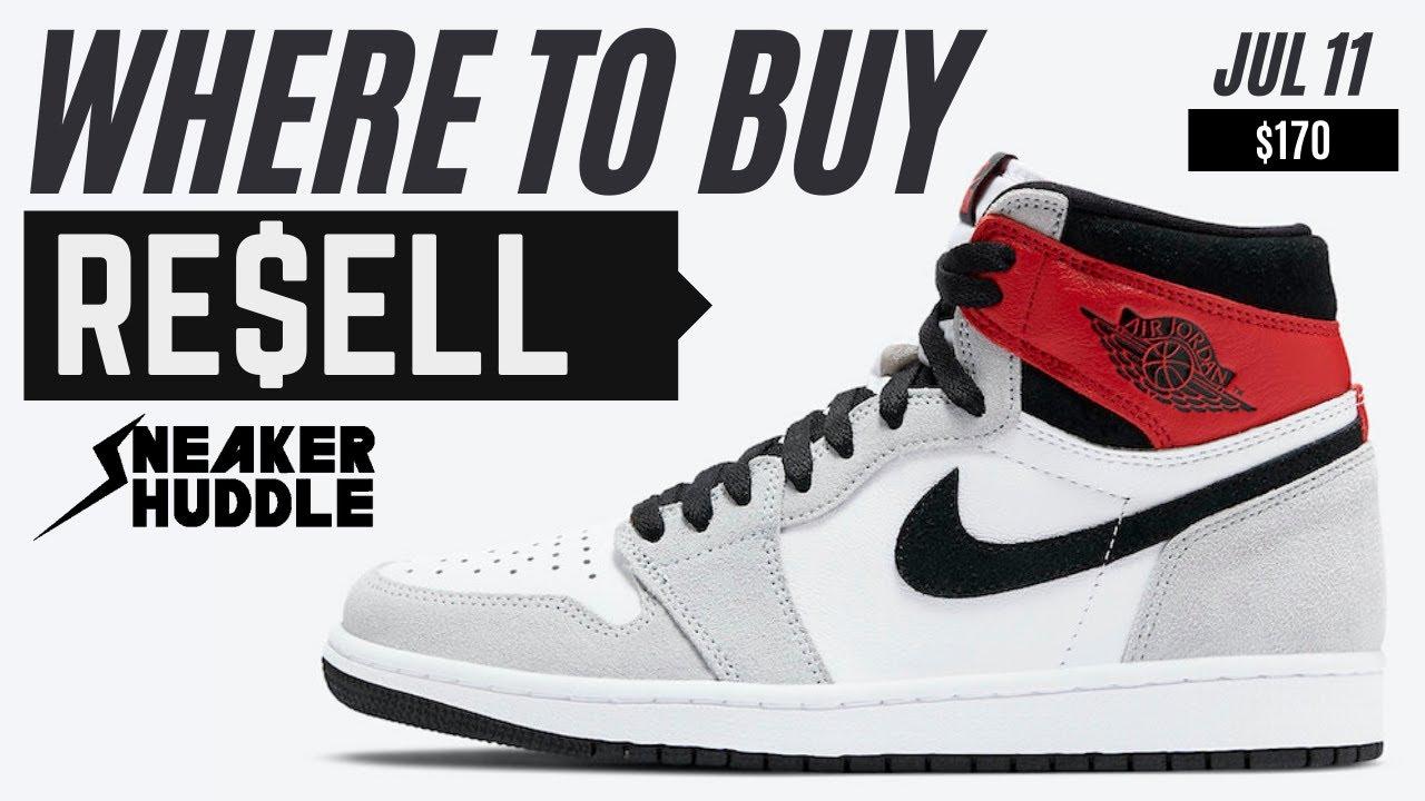 "Air Jordan 1 ""Light Smoke Grey"" | Where To Buy + Resell Prediction | Sneaker Huddle"
