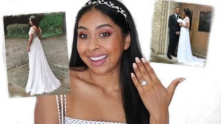 I'M MARRIED! Q&A & Trying New Huda Beauty Nude Medium Eyeshadow GIVEAWAY