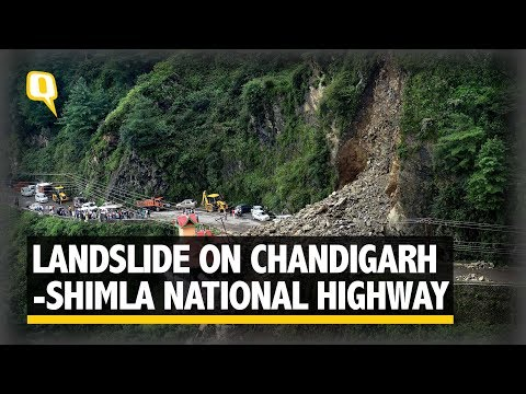 Massive landslide on Chandigarh-Shimla National Highway near Dhalli Tunnel | The Quint