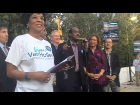 Chris Van Hollen Election Eve Rally (Part 1)