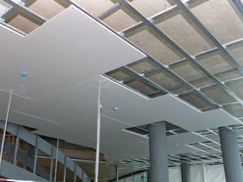 طريقة عمل اسقف الجبس بورد المعلقة Installation Of Gypsum Ceilings Youtube