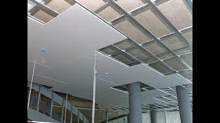 طريقة عمل اسقف الجبس بورد المعلقة|Installation of Gypsum Ceilings