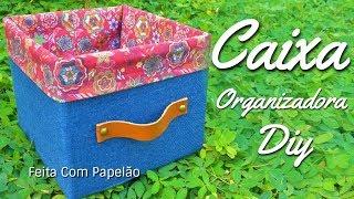 Caixa Organizadora Feita  Com Papelão - Reciclagem