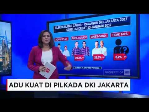 Adu Kuat Di Pilkada DKI Jakarta, AHY - Sylvi, Ahok - Djarot, Anies - Sandi
