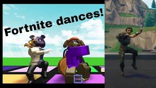Animazioni Fortnite e Meme in ROBLOX! [Roblox: Emote Dances]