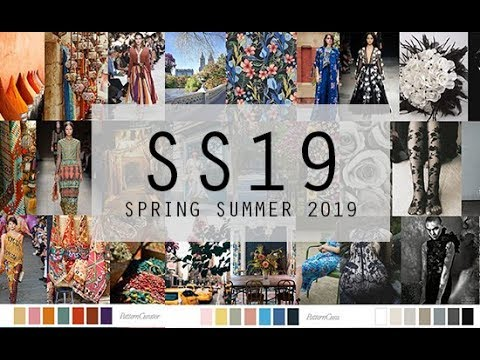 Spring Summer 2019 Fashion Trends Colours Youtube