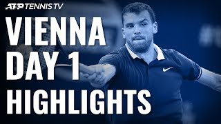 Berrettini Battles Past Edmund; Dimitrov & Khachanov Impress | Vienna 2019 Highlights Day 1