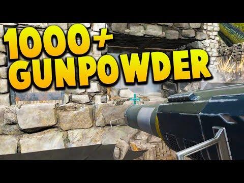 1000+ GUNPOWDER STOLEN - WE HAVE ROCKETS NOW - Ark Survival Evolved Island No Fliers PVP #12