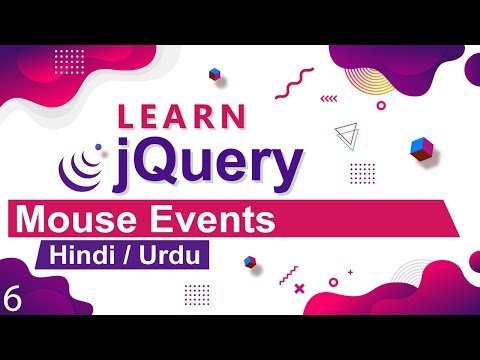 JQuery Mouse Events Tutorial In Hindi / Urdu