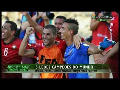 Futebol de Praia :: Portugal campeão do Mundo em 2015 com 5 leões
