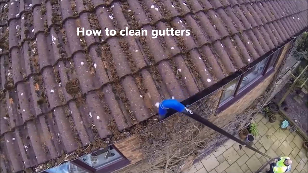 How To Clean Gutters Using The Skyvac Atom Gutter
