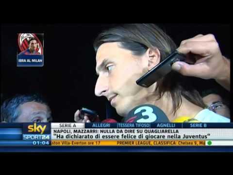 Zlatan Ibrahimovic al Milan - Sky Sport 24 - 28-08-2010 - Pt. 5