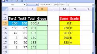 Excel Magic Trick #196: Grade Book That Subtracts Two Lowest