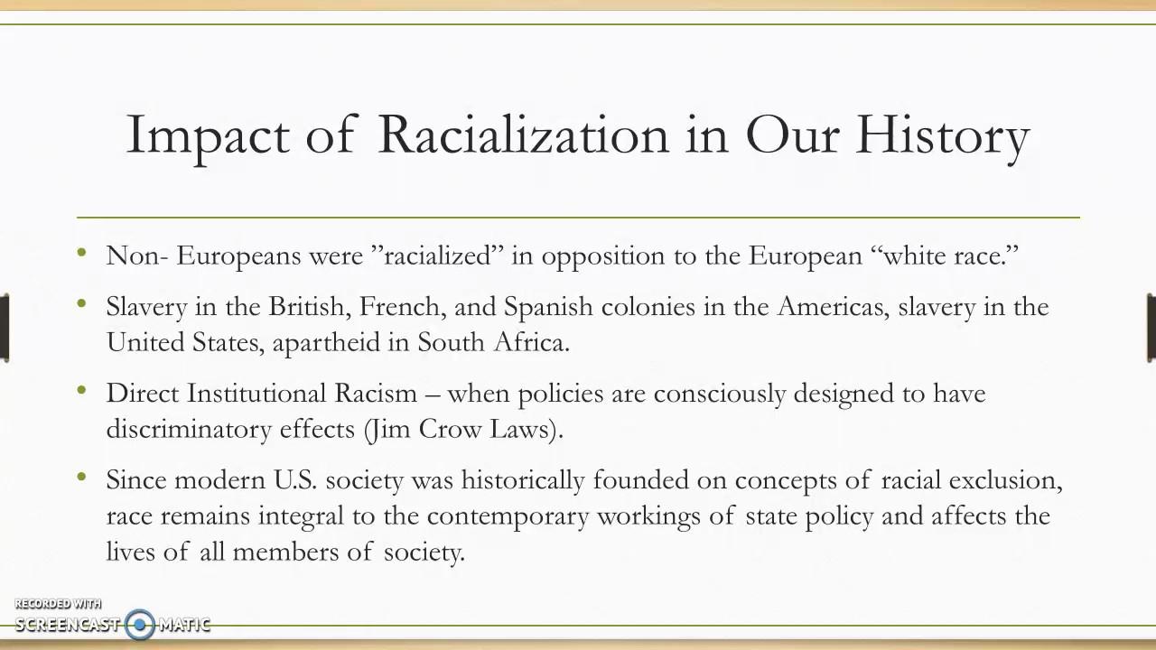 Racialization Presentation - YouTube