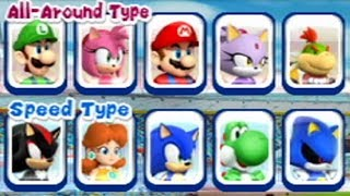 Mario & Sonic at the London 2012 Olympic Games - Hammer & Javelin Throw (All Characters)