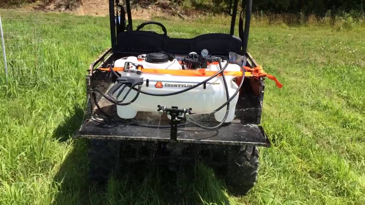 County Line ATV 25 gallon sprayer review Tractor Supply