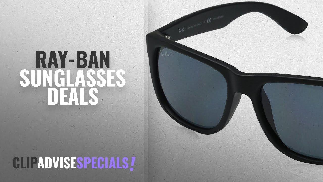 Ray-Ban Sunglasses On Sale  min 25% Off   Ray-Ban Men s 0RB4165 Justin  Polarized Sunglasses, Black 3b7ac43fe6