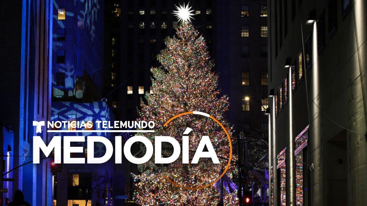 Encienden sin público el árbol navideño del Rockefeller Center | Noticias Telemundo