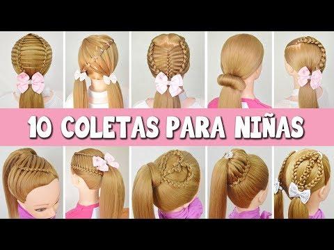 10 Peinados Coletas Con Trenzas Para Niñas Faciles Y