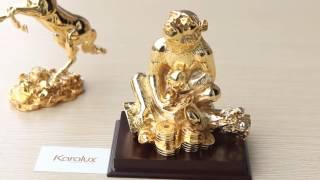Bán tượng khỉ đúc đồng, Linh vật Khỉ phong thủy mạ vàng 24K tại Hà Nội, Tp HCN