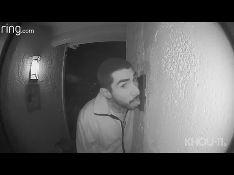 Big Mark Clark - Man captured on video licking doorbell over and over for 3 hours