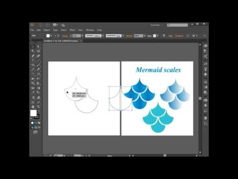 How To Make Mermaid Scales In Adobe Illustrator CC