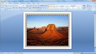 Microsoft word tutorial   How to add a border the picture.