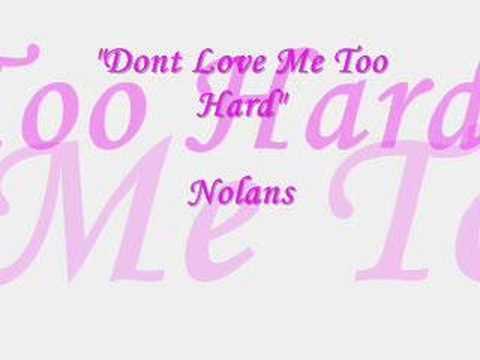 Dont Love Me Too Hard - B.Vitolio