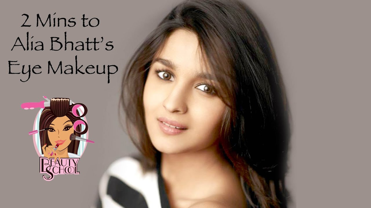 beauty school: 2 minutes to alia bhatt's eyes - youtube