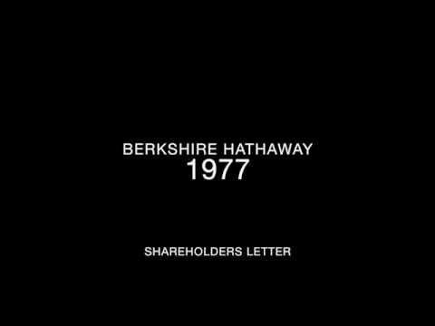 Berkshire Hathaway 1977 Shareholders Letter