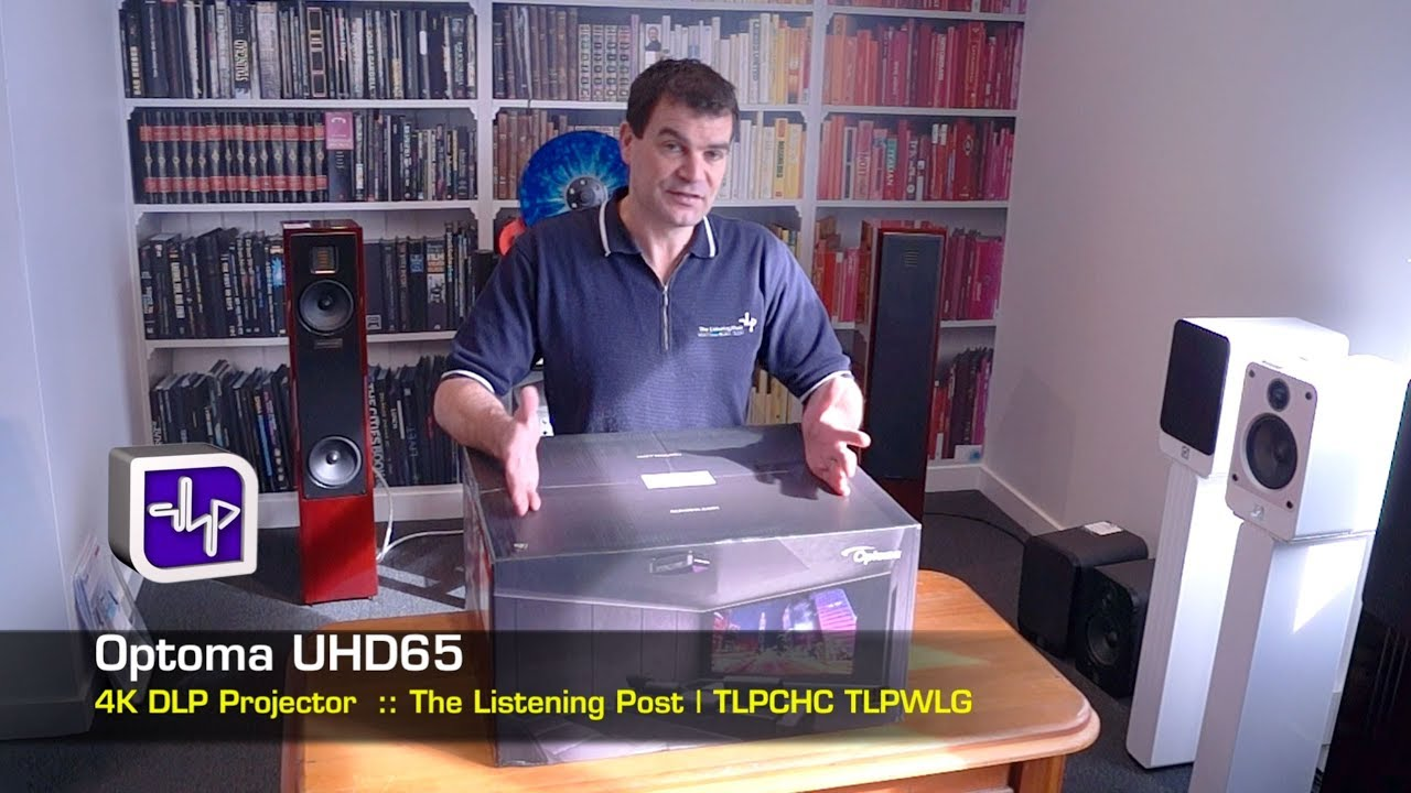 Optoma UHD65 4K Projector Unboxing, Hands on, Opening | The Listening Post  | TLPCHC TLPWLG