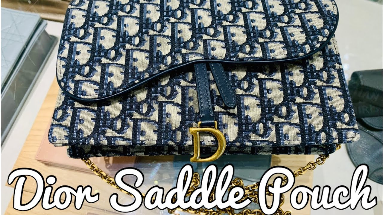 Glimpse Dior Saddle Pouch In Blue Dior Oblique Jacquard Youtube