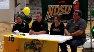 Tanner Volson NDSU Signing Day 2-5-14