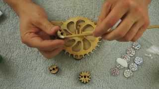 How To Make A Wooden Clock - Pt1 - Asmr