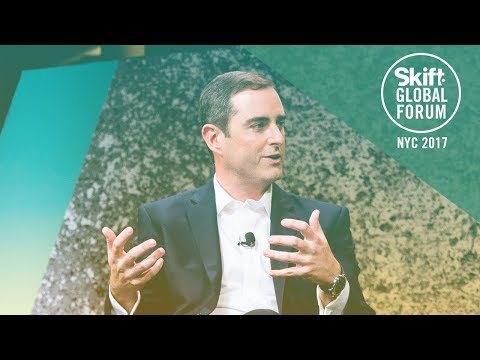 InterContinental Hotels Group CEO Keith Barr at Skift Global Forum 2017