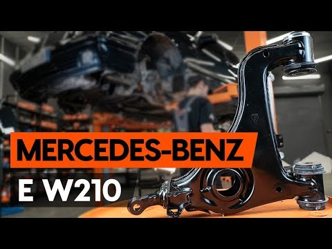 How to replace front suspension arm / front control arm on MERCEDES-BENZ E (W210) [TUTORIAL AUTODOC]